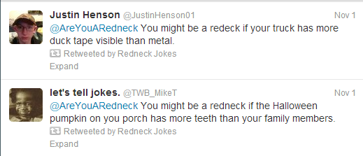you might be a redneck jokes on twitter