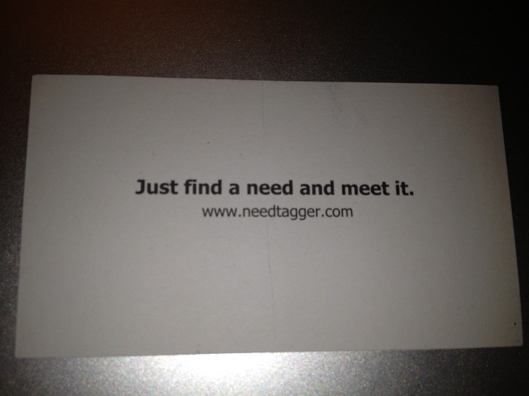 business card NeedTagger - back