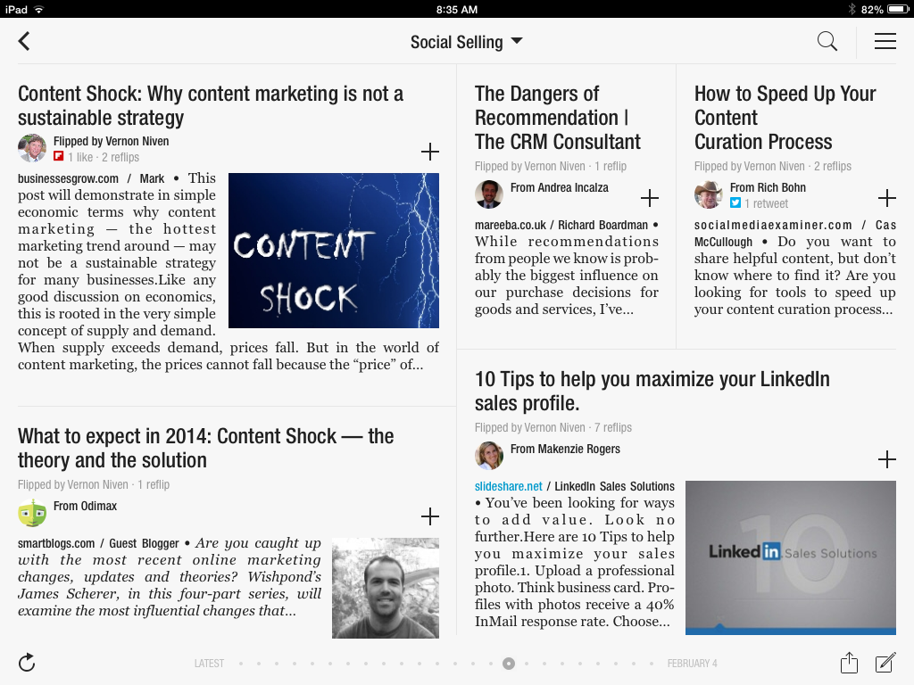flipboard social selling inside view